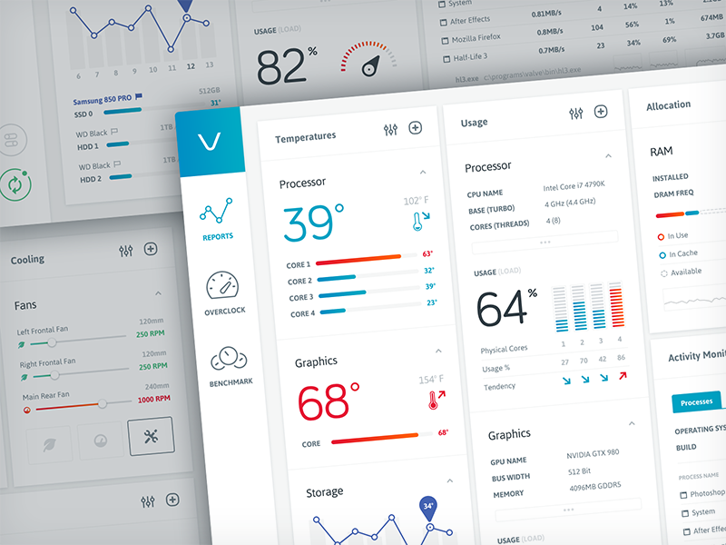 Volta dashboard app mac clean minimal ui ux design user interface user experience