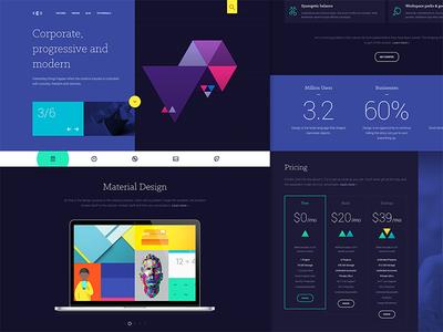 Cygnet clean minimal ui design web design user interface user experience ux template joomla rockettheme app