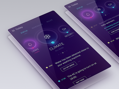 Quantum future app ux user experience user interface ui design mobile automation glass