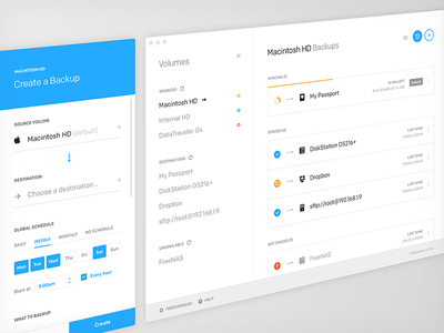 Substance clean minimal backup mac concept design ux ui native app