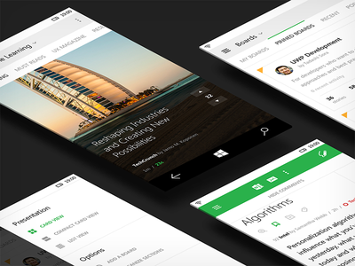 Feedly Phone metro mobile news minimal feedly collaboration desktop uwp windows 10 user interface apps