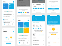 Polaris — Habit Tracking App material flat user interface user experience interaction design sketch typography habit android ios mobile app interface design ux ui minimal clean