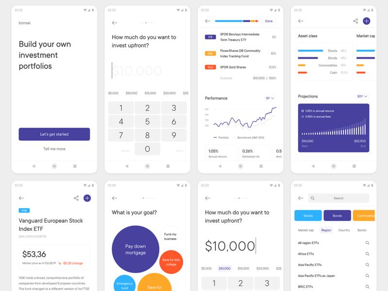 Bonsai — Build Investment Portfolios App