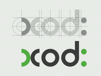 the Xcod - Logo for a Mobile app Design and Development Company logo typography round type branding green black mobile app design company company logo