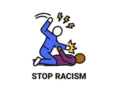 STOP RACISM web concept blm illustration blackunityglobally blacklivesmatter stopracism icon design vector