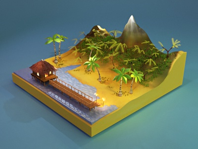 Relax forest design blender3d lowpolyart lowpoly 3d art illustration 3d artist blender 3d