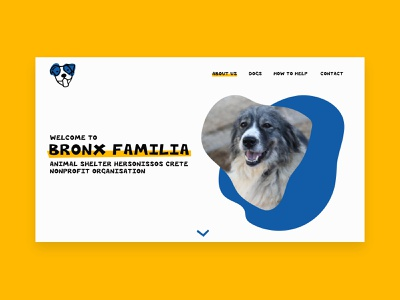 Bronx Familia - Website Concept vector design oll korrect dog website dog shelter dogs animal shelter home page design website concept website design website web uiux branding ui logo webdesign illustration