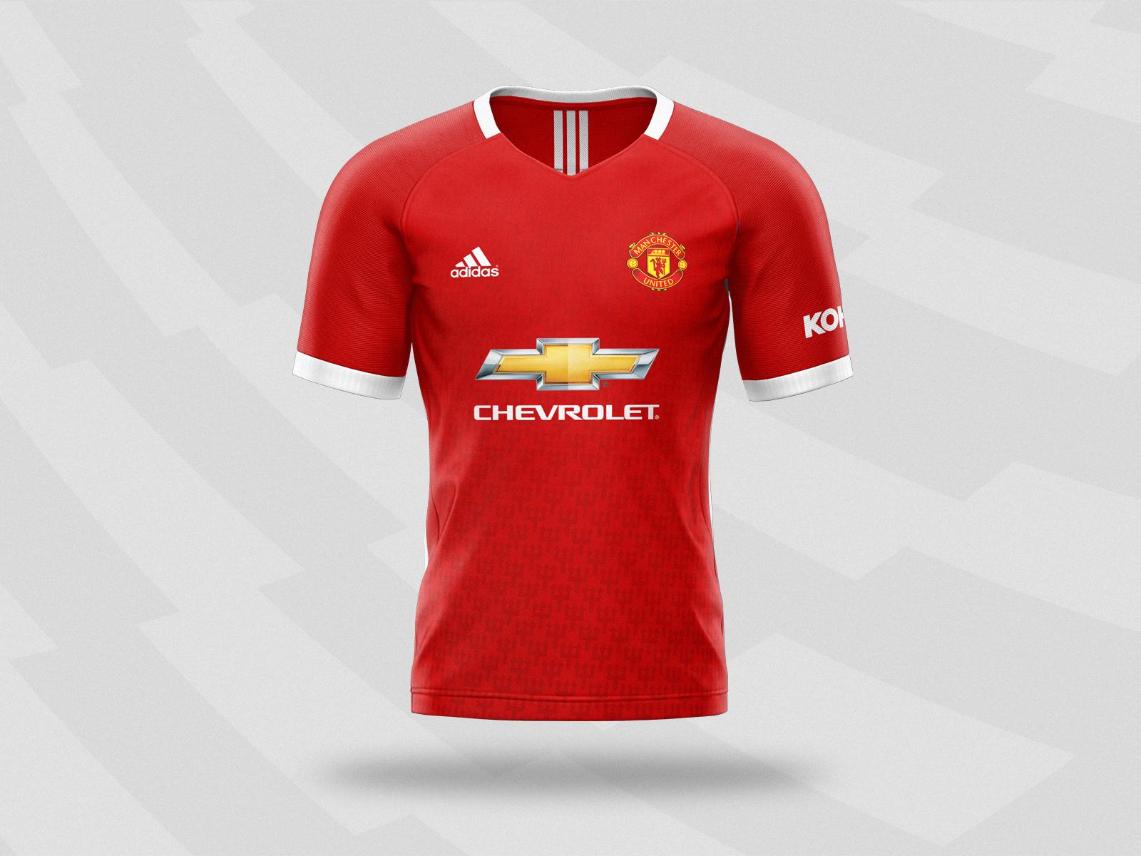Manchester United 2020 21 Home Kit Concept Design By Maciej Zielinski On Dribbble