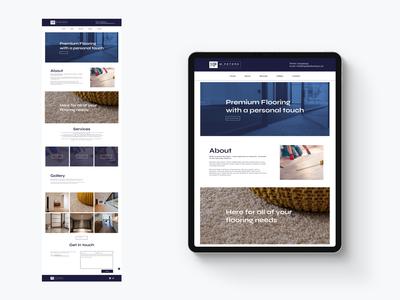 M.Peters Flooring Web Design logo design minimal web ui brand identity branding web design website design website