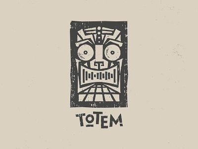 Totem - Logo Design music event disco tiki creative agency design logo design logo branding and identity branding brand identity totem