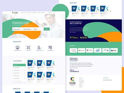 Courseintelli - Online courses platform mooc courses learn learning learning platform education ux، ui ux design ux ui design inspiration ui design ui typography design color app concept