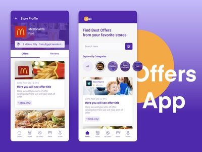 Offers App Concept location uidesign medical offers ui  ux ux ux design ui design inspiration ui design ui typography design color app concept