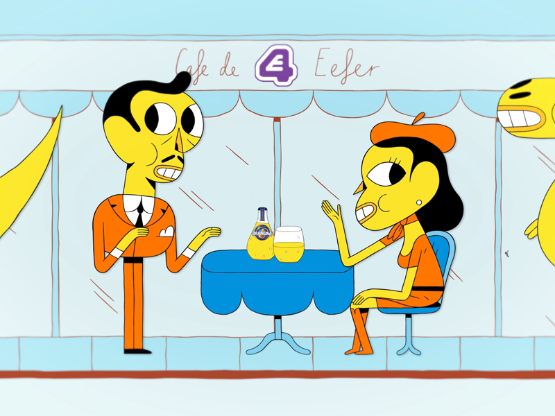 Orangina Rumble television commercial character cartoon animation