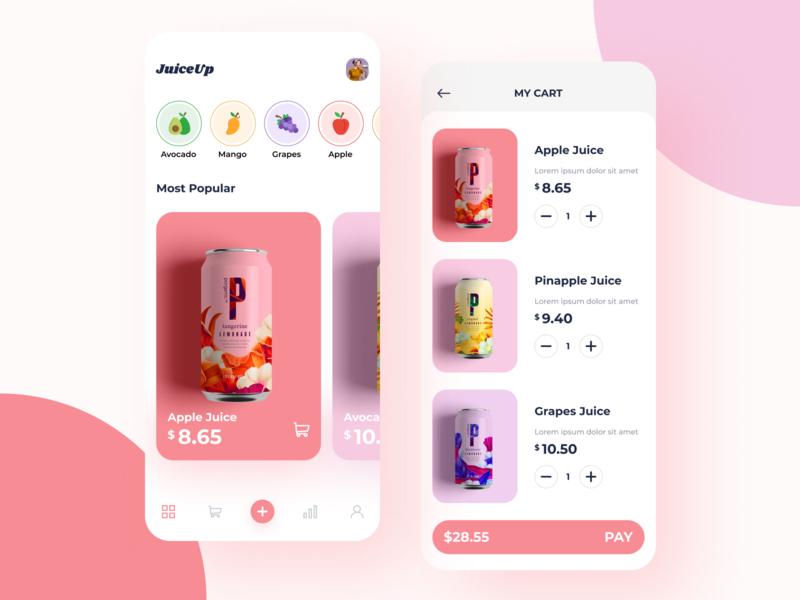Juiceup App colorful product design ux uiux ui design app design app juice juice cane