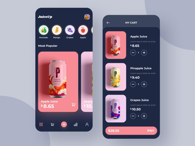 Juiceup App ux ui colorful product design juice cane design app design app juice juice app juiceap