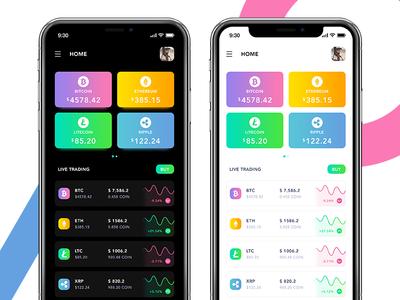 Cryptocurrency App Design litcoin ethereum bitcoin ux design app design ux ui cryptocurrency app cryptocurrency crypto
