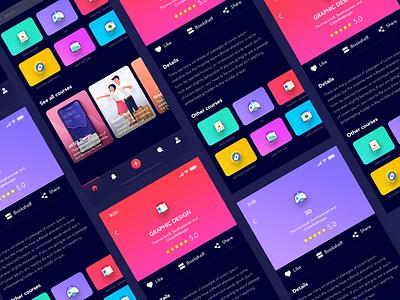 Designer App gaming 3d motion ui ux graphic black courses dark iphonex ios app designer