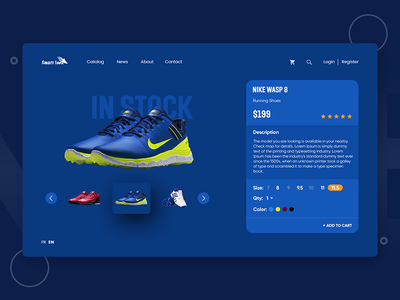 Shoes product slider