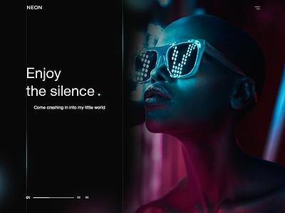 Enjoy enjoy ui ux creative dark design neon black web