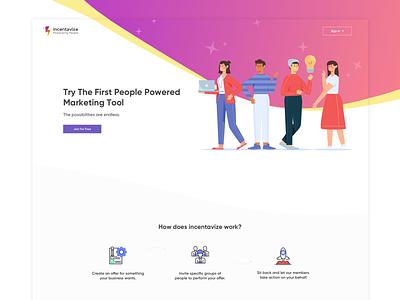 Incentavize illustration app webdesign design ux ui