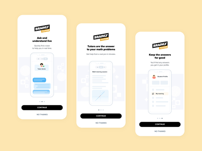 Introduction to Brainly Tutor animation ux brainly motion onboarding design illustration ui