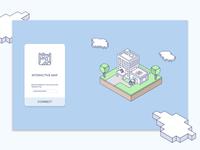 Connexion Page - Interactive Map