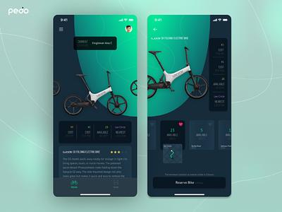 Pedo - A Bike Rental App (Part 1) bike app bike rental app dark mode app ios app rental app bike rental