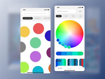 Painter App (Shot 1) color inspiration paint inspiration colour color simple app ios app pallette application ios app design
