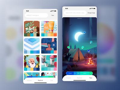 Painter App (Shot 2) simple app color inspiration paint inspiration painter app color app color colour painters ios application ios app app