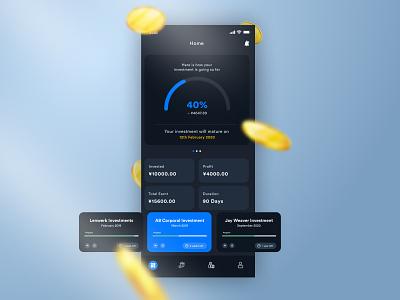 Finance App - Dashboard uiux ui designer investment app money app dark mode finance app ui design ios app
