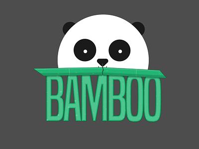 Bamboo - Panda Theme Logo dailylogochallenge logo art comet logo rocketship logo logo design daily logo logo challenge