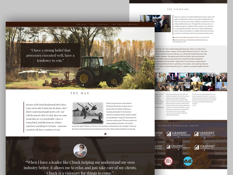 Showcase Website web design