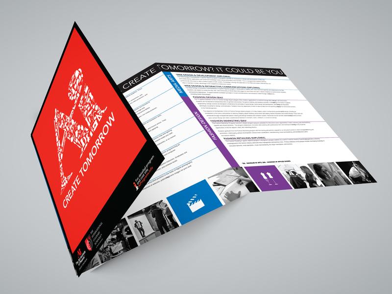 Art Institute Trifold Brochure brochure design indesign