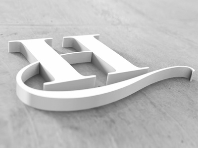 Hybrid Media Design 3d Logo