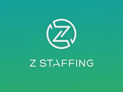 Z Staffing logo + identity design
