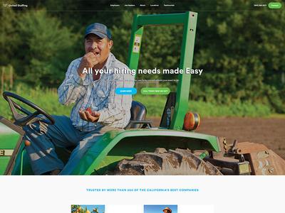 United Staffing Homepage Design