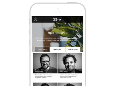 GG+A Website Mobile