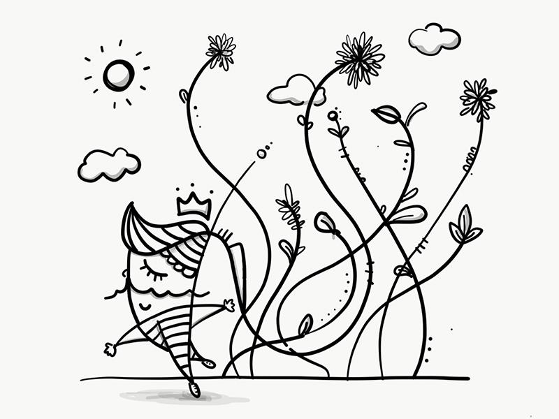 King imaginarium doodle