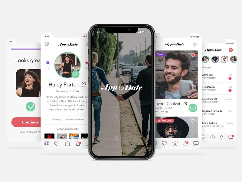 App to Date user interface vector datingapp typography web app icon ux branding app  design ux  ui work in progress design logo ui digital art
