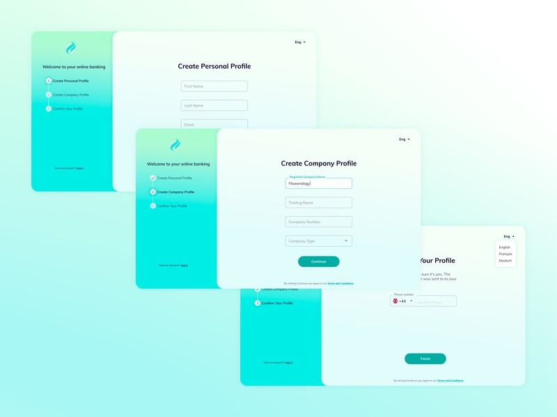 Sign up screen login simple minimal create profile sign up signup design ui clean