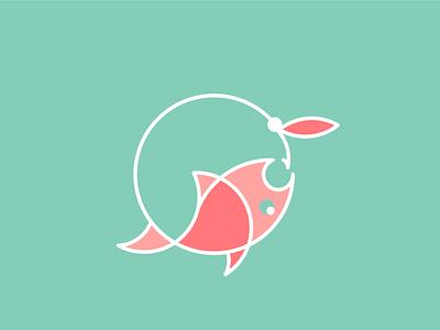 Flying Fishing fish logo logotype fishing flying fishing