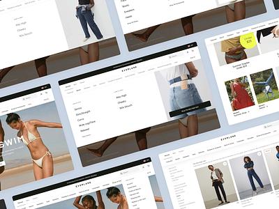 Desktop Navigation desktop everlane ecommerce graphic design design web design ux ui product design