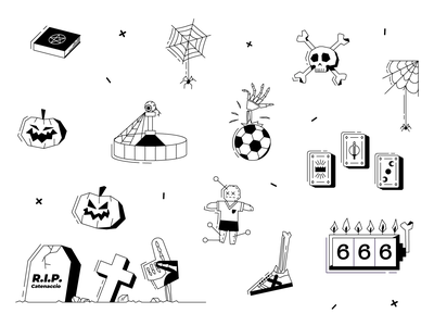 Halloween pictograms for bet.pt pictograms halloween vector illustration vector illustration