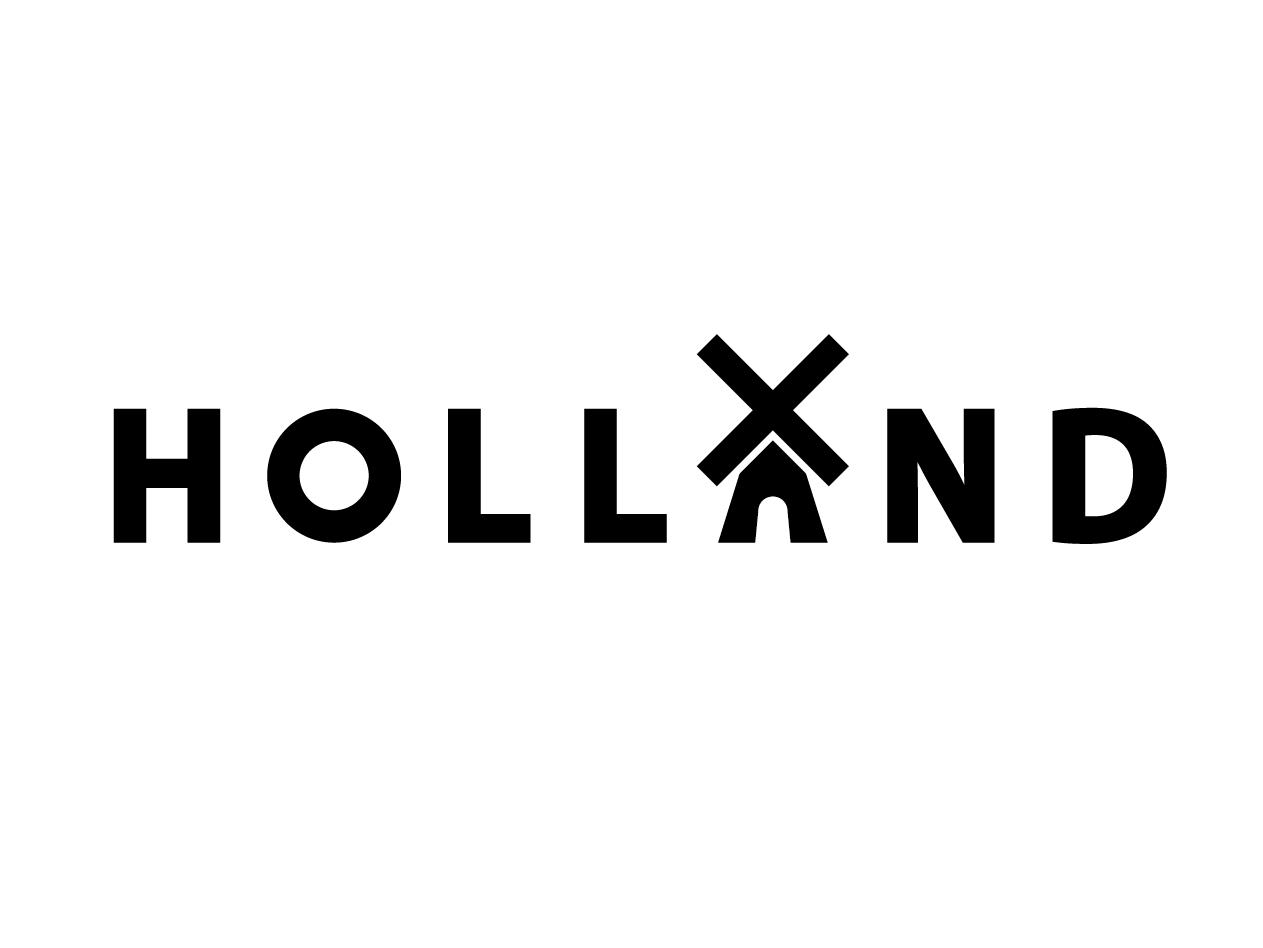 Holland Wordmark icon windmill netherlands holland logo design wordmark logo