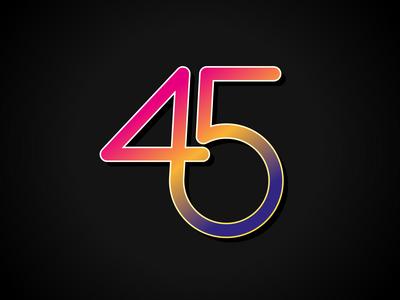 45 in colour
