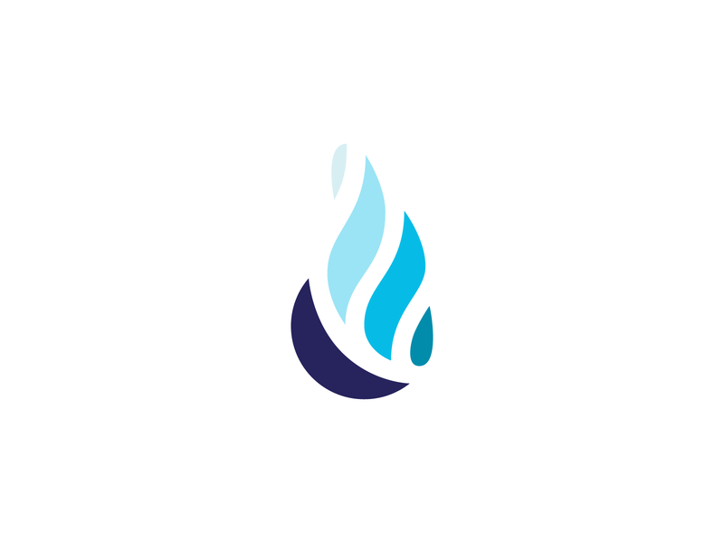 Blue Fire Catering Logomark catering blue flames fire brand identity branding logomark