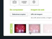Rich content upload UI