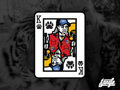 King of Tigers joe exotic tiger king identity tiger design logo illustration