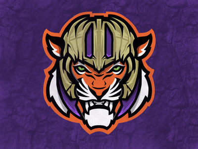 The Mad Tiger clemson sports design sports tiger logo identity sports identity branding sports branding sports logo