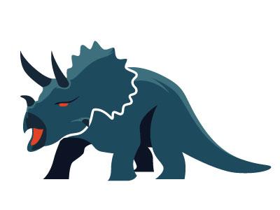 Triceratops Logo logo icon